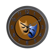 Theatre Masks Wall Clock