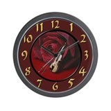 Rose and Violin Wall Clock
