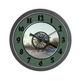 Cannon in Winter Wall Clock