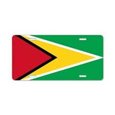 Flag of Guyana Aluminum License Plate