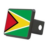 Flag of Guyana Rectangular Hitch Cover