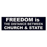 """freedom is the Distance"" Bumper sticker"