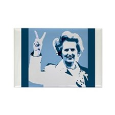 MAGGIE THATCHER VICTORY PRINT Rectangle Magnet