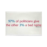 Anti-Incumbent Politician Rectangle Magnet