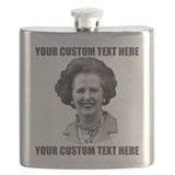 CUSTOM TEXT Margaret Thatcher Flask