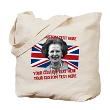 CUSTOM TEXT Thatcher UK Tote Bag