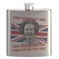 CUSTOM TEXT Thatcher UK Flask