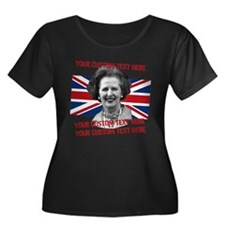CUSTOM TEXT Thatcher UK Plus Size T-Shirt