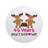 45th Anniversary Moose Ornament (Round)