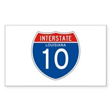 Interstate 10 - LA Rectangle Decal