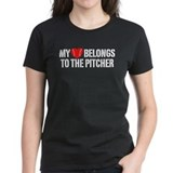 My Heart Belongs To The Pitcher Tee