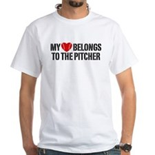 My Heart Belongs To The Pitcher Shirt