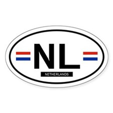 Netherlands Oval Decal