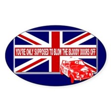 Italian Job Union Flag Rectangle Decal