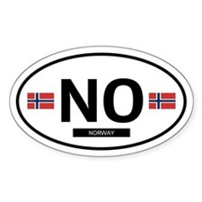 Norway Oval Decal