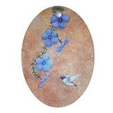 StephanieAM Hummingbird Ornament (Oval)