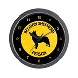 Belgian Shepherd Person Wall Clock