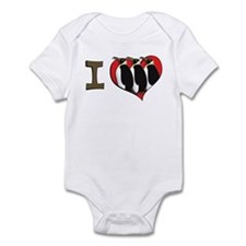 I heart penguins Infant Bodysuit