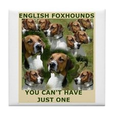 foxhound group Tile Coaster