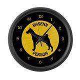 Basenji Person Large Wall Clock