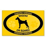 Basenji On Board Decal