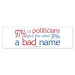 Anti-Government Politician Bumper Sticker