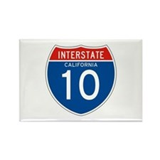 Interstate 10 - CA Rectangle Magnet