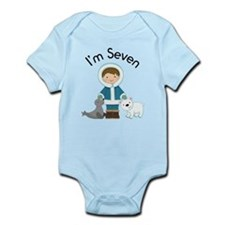 7th Eskimo Boy Birthday Infant Bodysuit