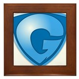 Super G Super Hero Design Framed Tile
