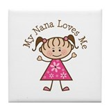Nana Loves Me Tile Coaster