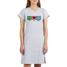 Peace Love Medicine Women's Nightshirt
