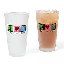 Peace Love Medicine Drinking Glass