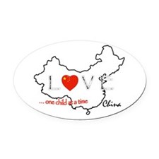 Cute Chinese adoption Oval Car Magnet