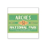 Arches National Park (Retro) Rectangle Sticker
