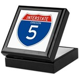 Interstate 5 - OR Keepsake Box