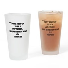 Unique Lazy people Drinking Glass