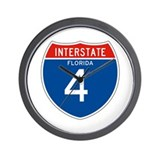 Interstate 4 - FL Wall Clock