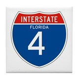 Interstate 4 - FL Tile Coaster