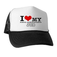 School Administrator Job Designs Trucker Hat