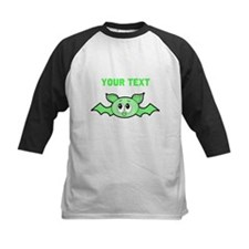 Green Bat with Custom Text. Baseball Jersey