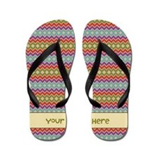 Funny Add your text Flip Flops