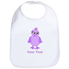 Cute Purple Bird with Text. Bib