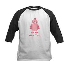Cute Pink Bird with Text. Baseball Jersey