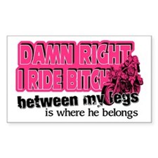 Damn Right I Ride Bitch Decal