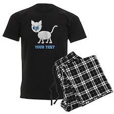 Blue Eyed Cat and Text. Pajamas