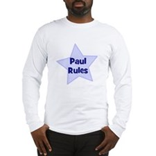Paul Rules Long Sleeve T-Shirt