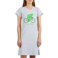 Cycling Design and Text. Green. Women's Nightshirt