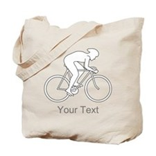 Cycling Design and Text. Tote Bag