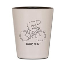 Cycling Design and Text. Shot Glass