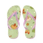 Birds and Butterflies Flip Flops